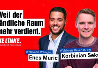 Kreisvorstand spricht Unterstützung für Korbinian Sekul und Enes Muric zur Landtagswahl 2021 aus